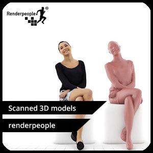 photorealistic human jessica 0362 3d model