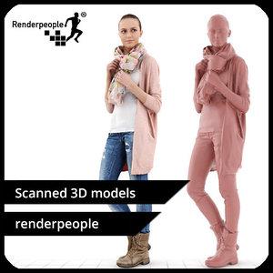 photorealistic human julia 0287 3d model