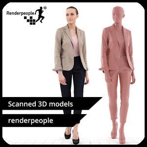 photorealistic human julia 0292 3d model