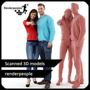 photorealistic human kelly aaron 3d model