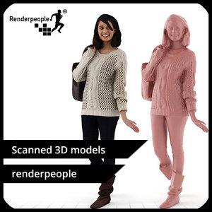 photorealistic human lina 0400 3d model