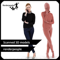 photorealistic human melinda 0130 3d model