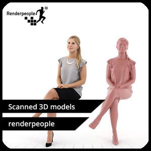 3d photorealistic human nina 0218
