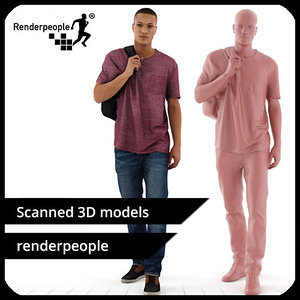 3d model photorealistic human ramon 0386