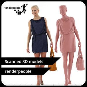 photorealistic human stephanie 0372 3d model