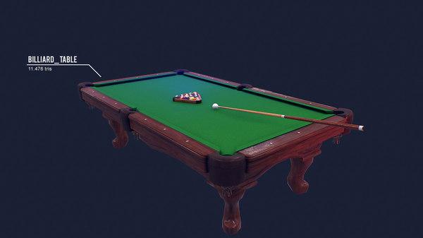 3d model billiard kit