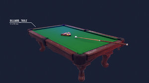 3d model billiard kit