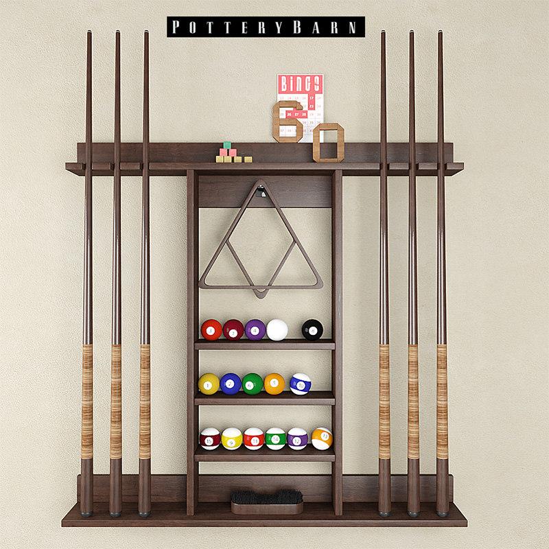 3d model cue stick storage rack