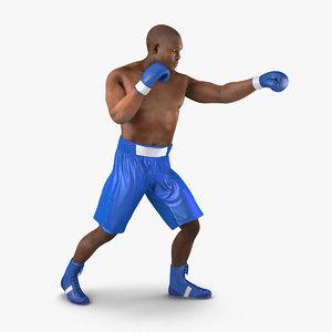 3d model african american boxer 2