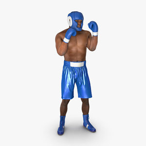 african american boxer pose max
