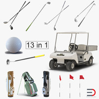Golf Equipment 3D Models Collection 2