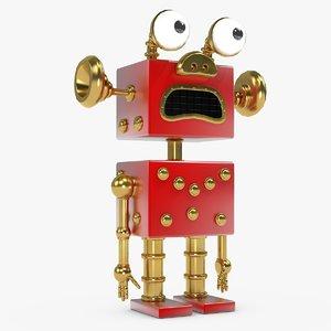 realistic robot obj