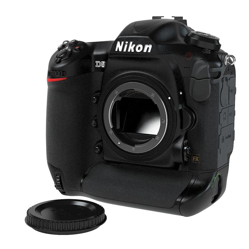 nikon d5 3d model