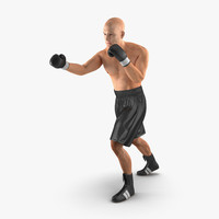 adult boxer man 2 3d model
