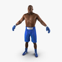 3d african american boxer 2