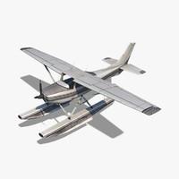 3d cessna 182 skylane seaplane model