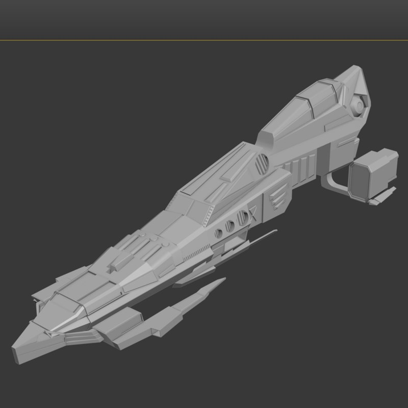 space vessel 3d model