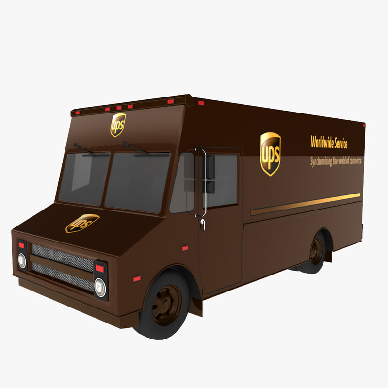 3d model ups delivery truck
