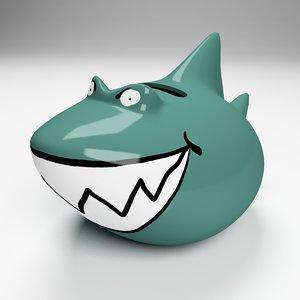 3d model shark moneybox