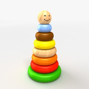 3d model stacking toy