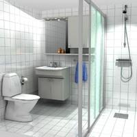 3d model bathroom shower