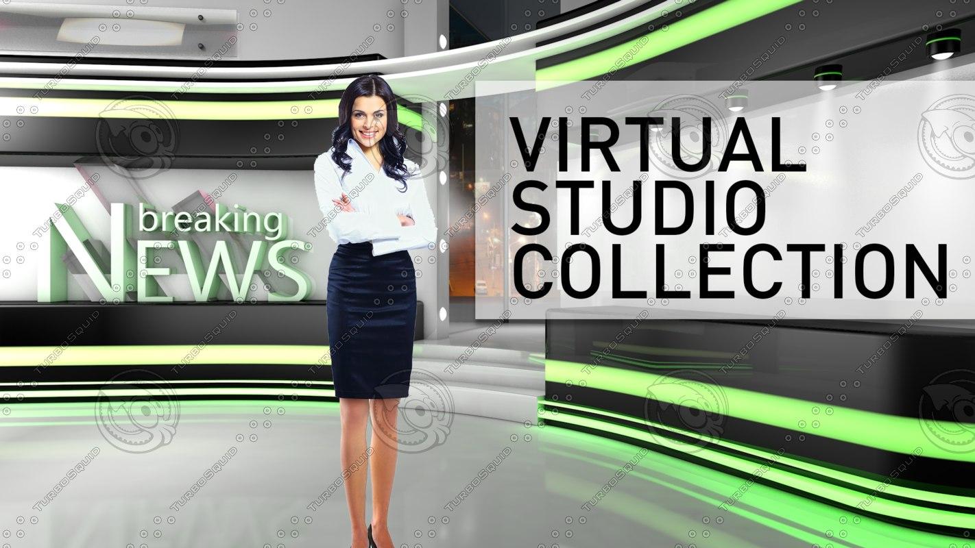 studio breaking news 3d c4d