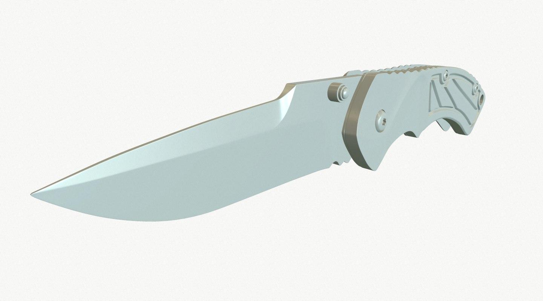 free folding knife 3d model