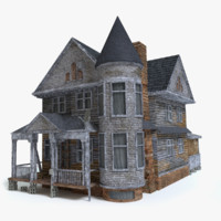 old scary house 3d model
