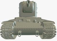3d model kv-2 heavy tank