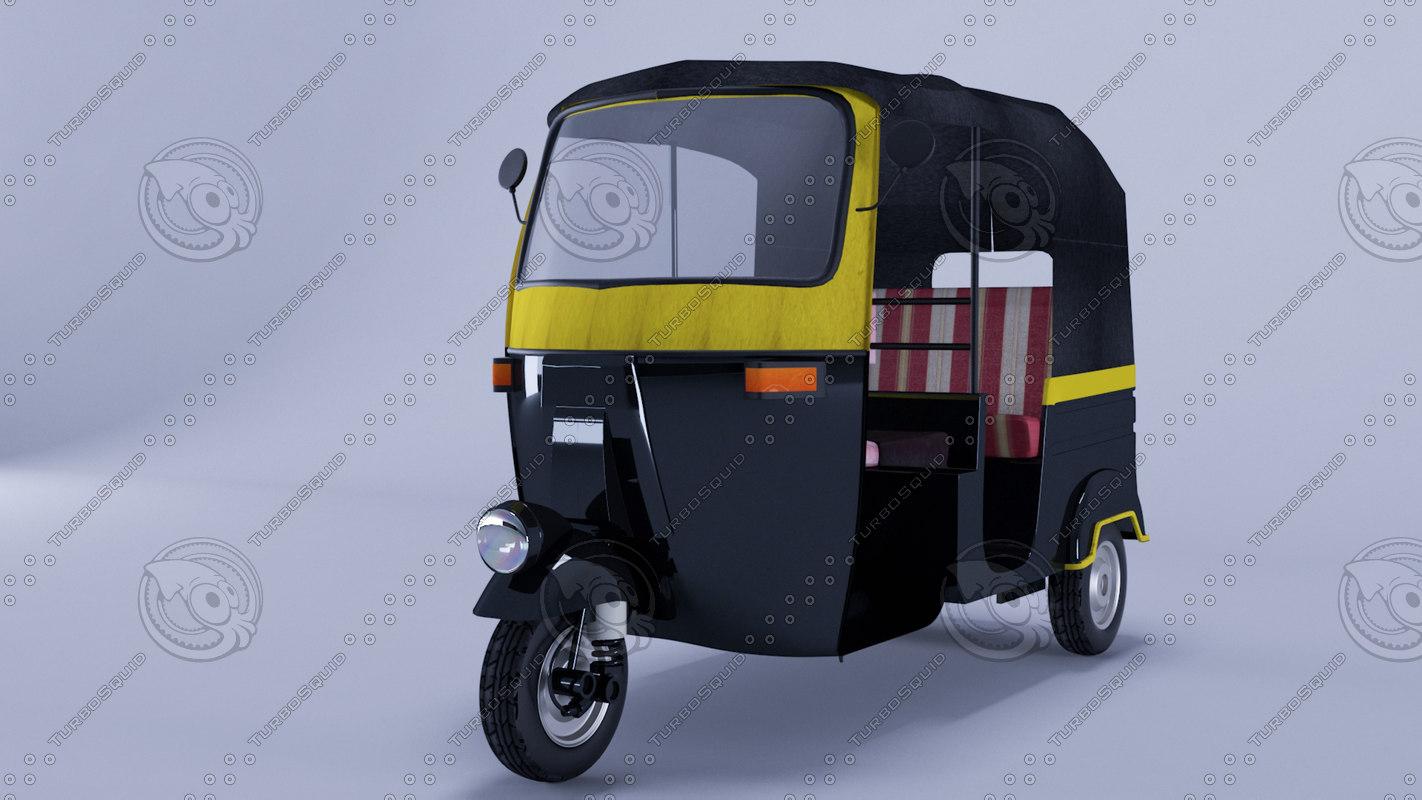 3d model indian auto rickshaw