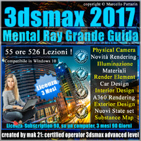 Corso 3ds max 2017 Mental Ray Grande Guida 3 mesi Subscription 1 Computer