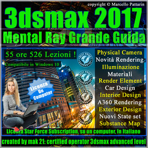 Corso 3ds max 2017 Mental Ray Grande Guida Locked Subscription, un Computer