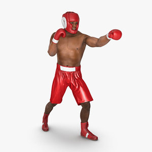 obj african american boxer red
