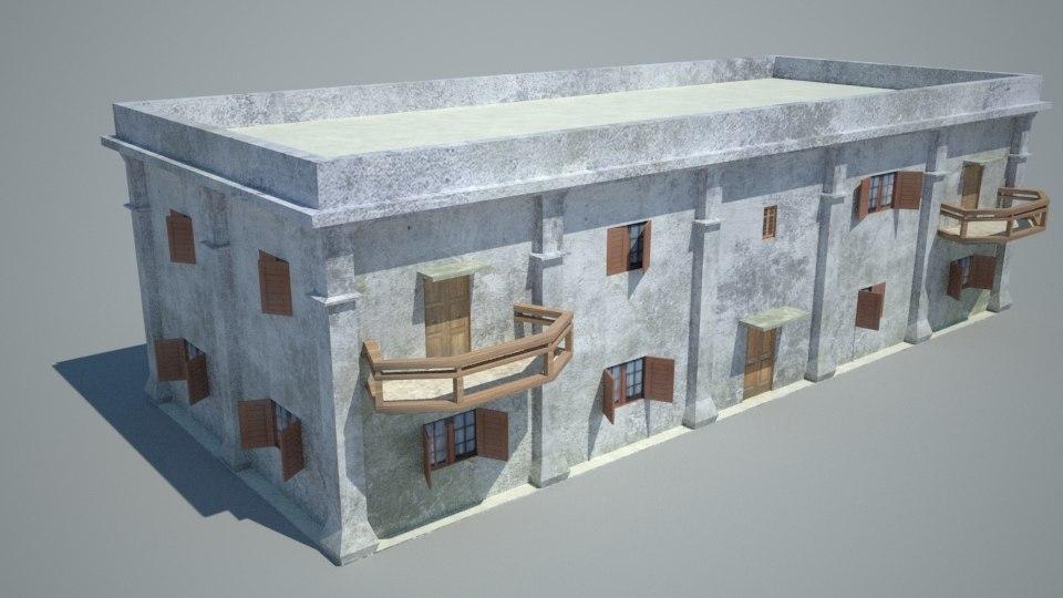 3d model old building home