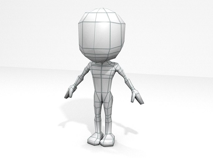 base mesh human male 3d blend