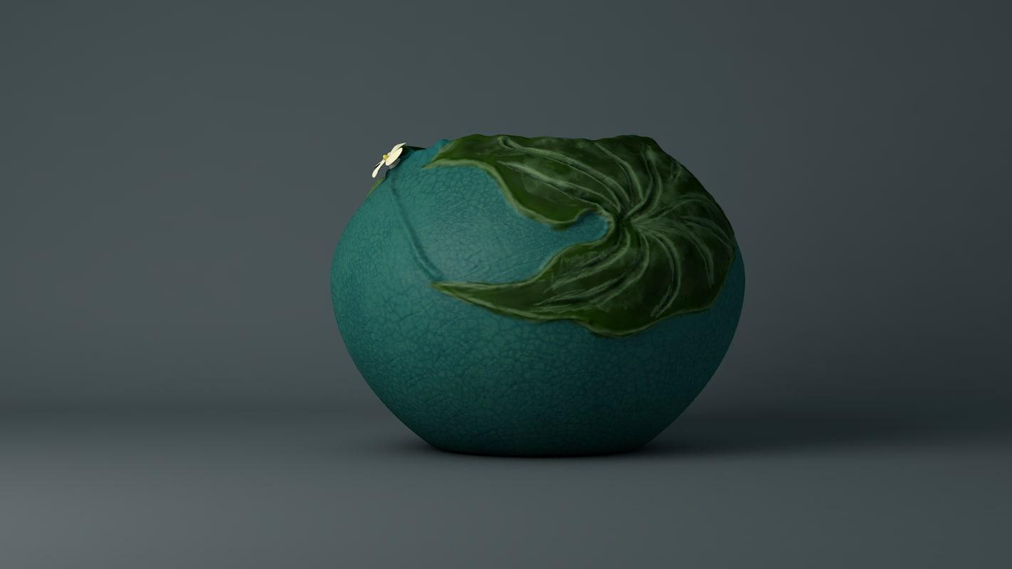 3d 3ds bowl arrowroot flower