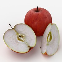 free max mode photorealistic red apple