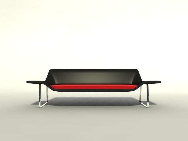 3d model black sofa