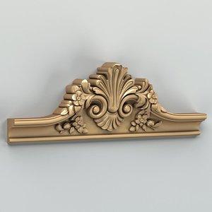 carved crown 3d obj