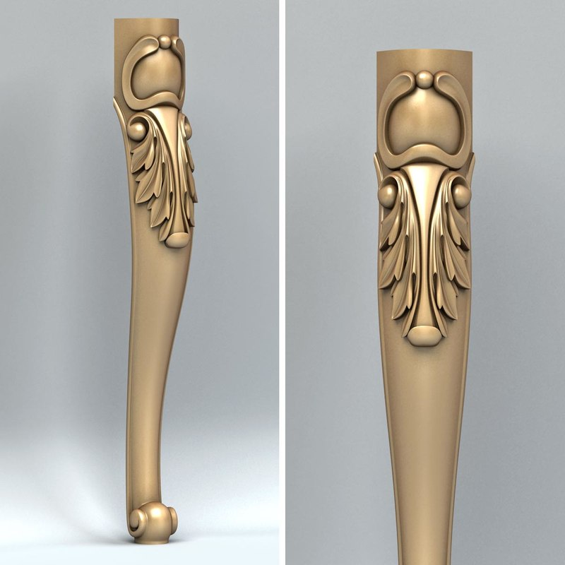3d model furniture leg