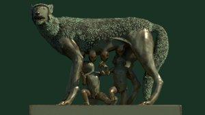 wolf lupa capitolina 3d model