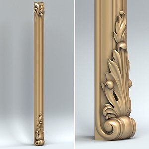 carved pillar 3d max