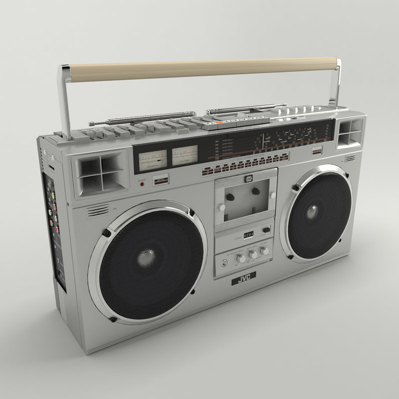 jvc boombox 3d max. Black Bedroom Furniture Sets. Home Design Ideas