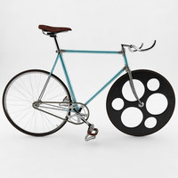 3d vintage fixed gear bicycle model