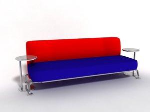 blue red sofa fbx