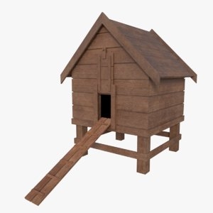 subdivision chicken coop 3d model