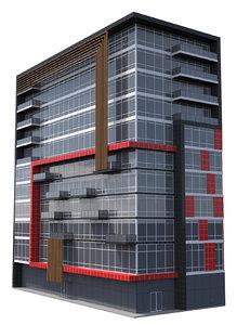 commercial skyscraper building tower 3d model