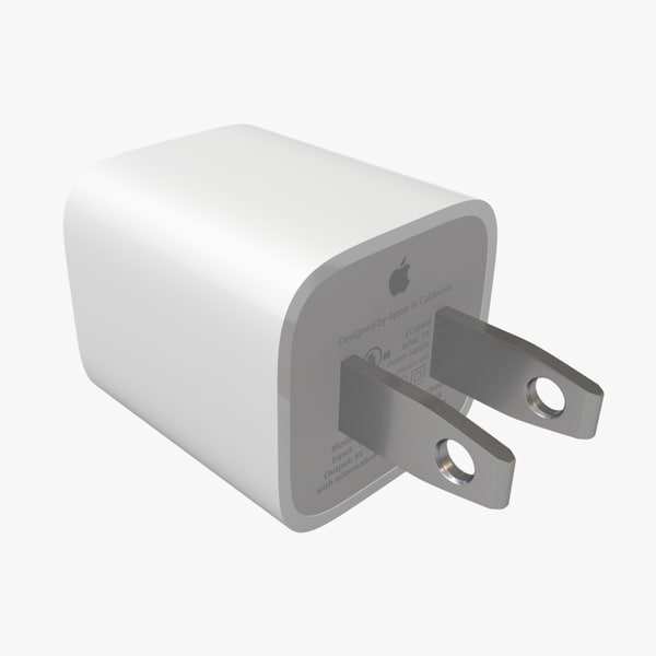3d apple usb charger type model