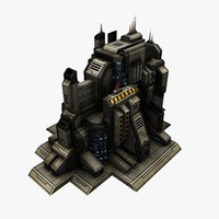 sci-fi city structure 3d model
