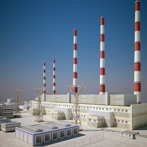 thermal power plant 3d model